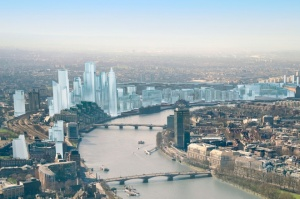 A visualisation of the future skyline of the Nine Elms area of the South Bank in west London has been unveiled by the Nine Elms Vauxhall Partnership.