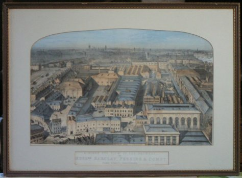 A Birds Eye View of the Brewery of Messrs Barclay, Perkins & Compy, Park Street Southwark