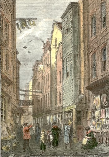 Field Lane, c. 1840. (Old and New London)