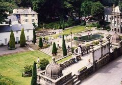 A part of Portmeirion, the real-life filming location for exterior shots of the Village