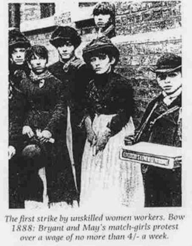 Matchwomen at Bryant and May's factory shortly before their famous strike
