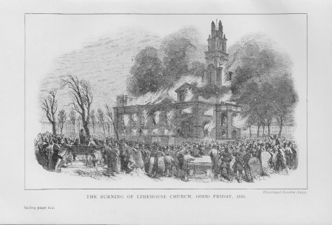 Burning of St Anne's, Limehouse