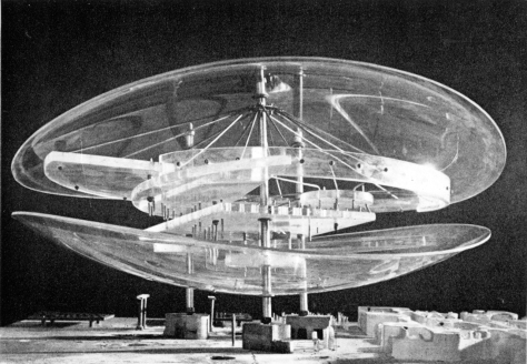 Constant Nieuwenhuys, New Babylon, Concert Hall for Electronic Music, 1958-1961